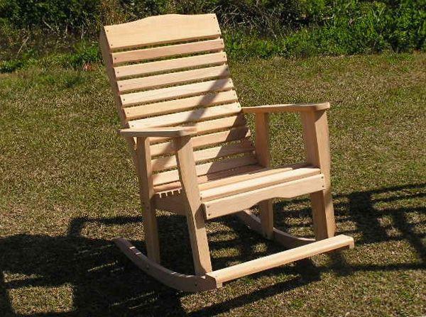Кресло качалка на дачу