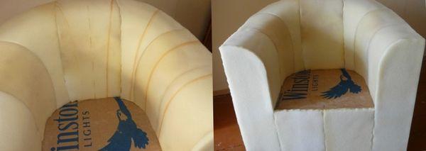Чехол на круглое кресло своими руками