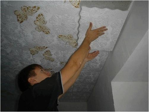 Потолок без швов фото
