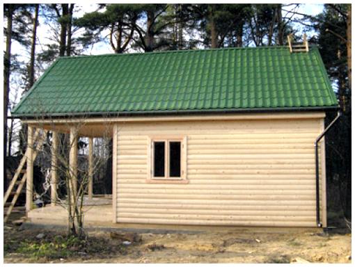 Покрыть крышу бани профнастилом своими руками