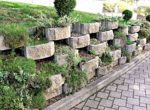 Опорные стены из камня