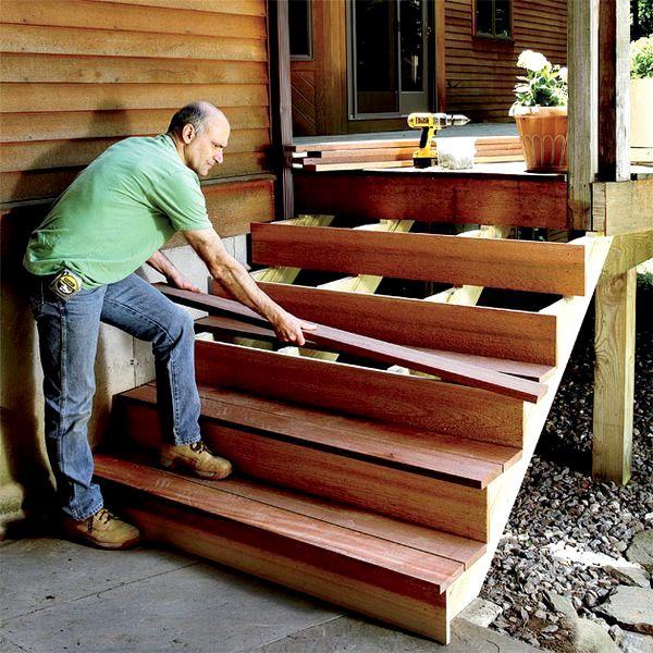 Лестницу на веранду своими руками