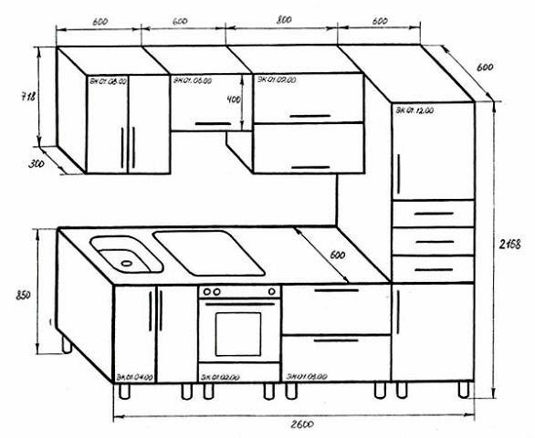 Мебель чертежи для кухни