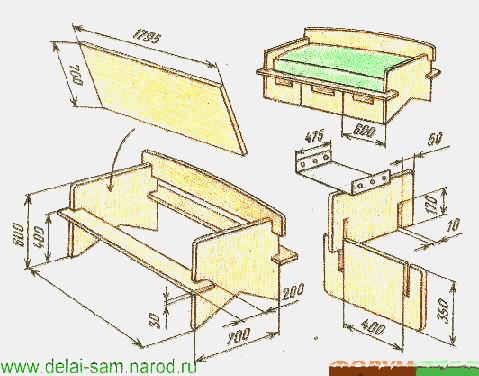 Мягкая мебель сделай сам своими руками