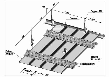 Реечный потолок установка своими руками